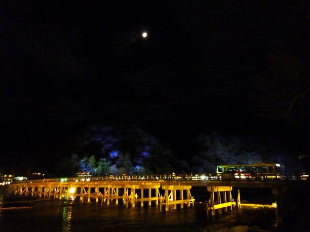 嵐山全体がライトアップ