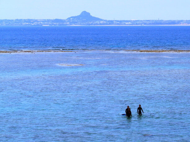 two people in the sea