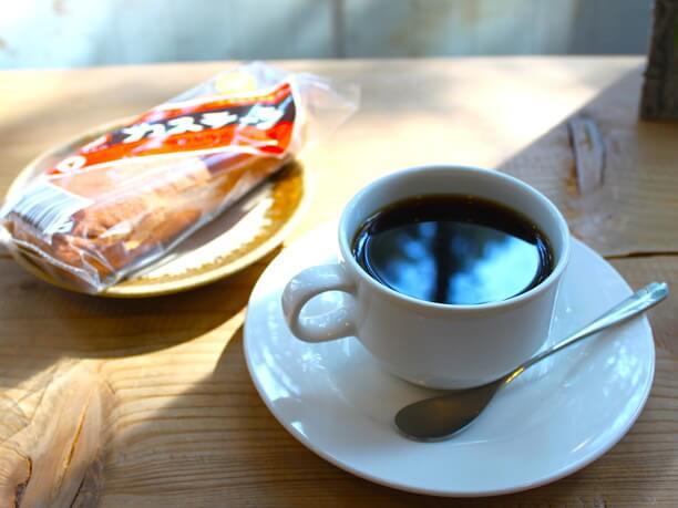 cofee and kasutera